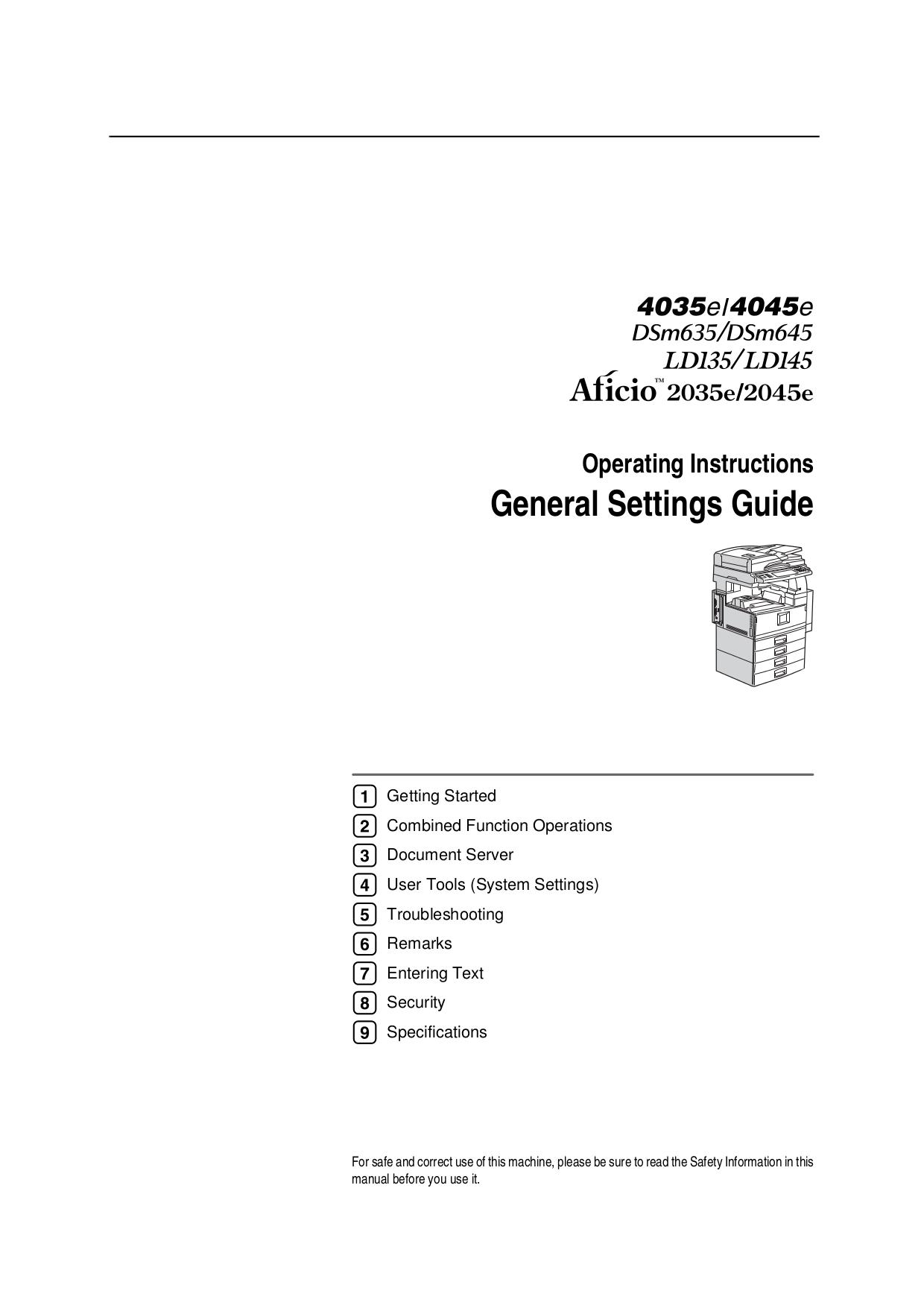 Download free pdf for ricoh aficio 2035e copier manual pdf for ricoh copier aficio 2035e manual publicscrutiny Image collections