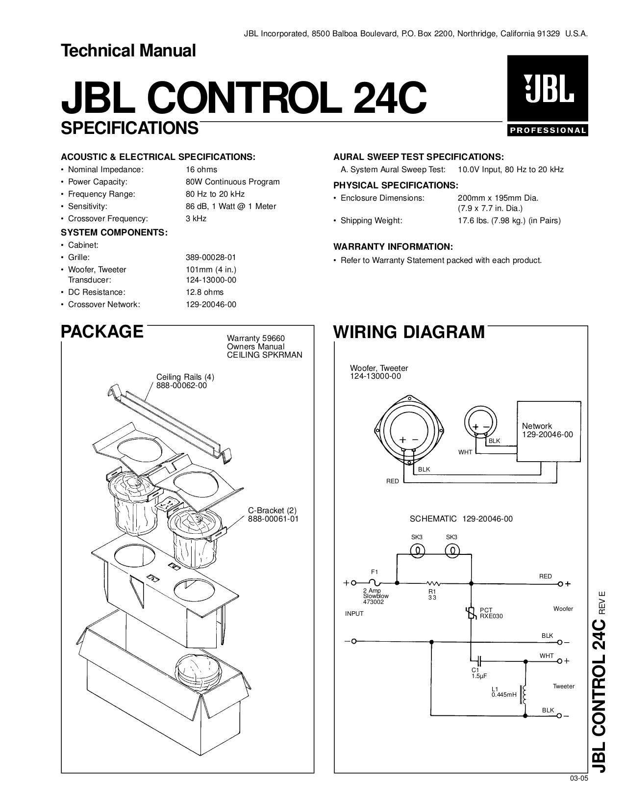 Modern Jbl Crossover Composition - Electrical Diagram Ideas ...
