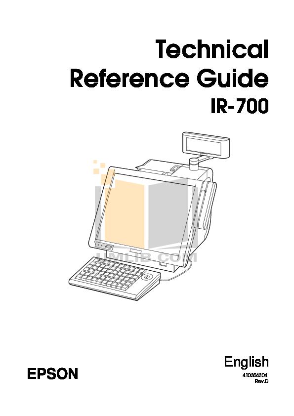 pdf for Epson Monitor DM-D500 manual