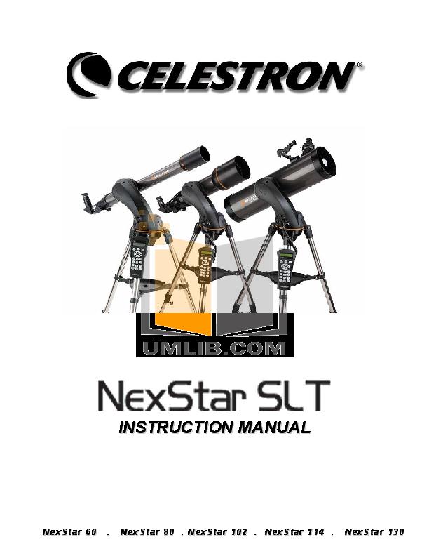 download free pdf for celestron nexstar 114gt telescope manual rh umlib com celestron nexstar 114gt instructions Images From Celestron NexStar 114GT 500Mm Telescope