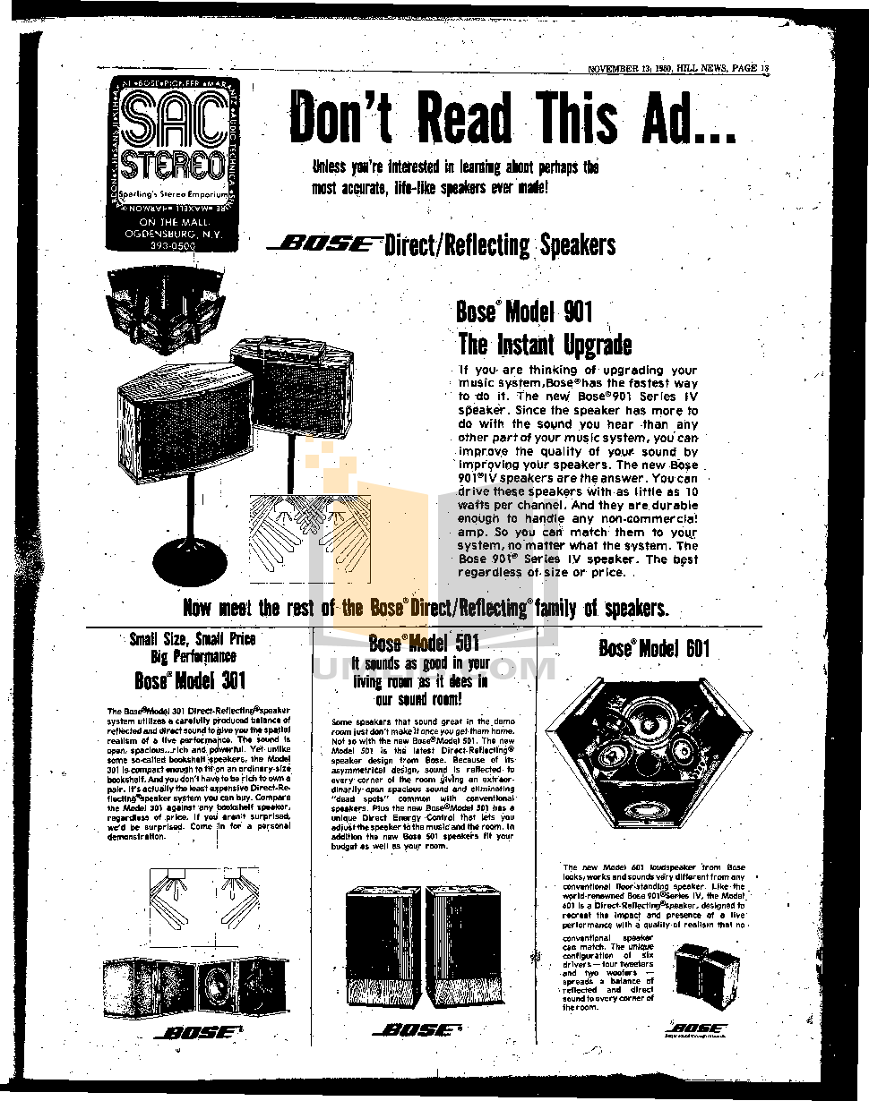 hill news 1980 september 1984 may 0147.pdf 0 wat download free pdf for bose 901 series iv speaker manual bose 901 series iv wiring diagram at gsmx.co