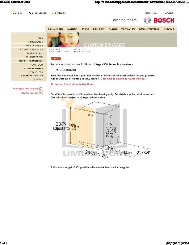 download free pdf for bosch shx55r55uc dishwasher manual rh umlib com Bosch Dishwasher Troubleshooting Manual Bosch Dishwasher Manual Online