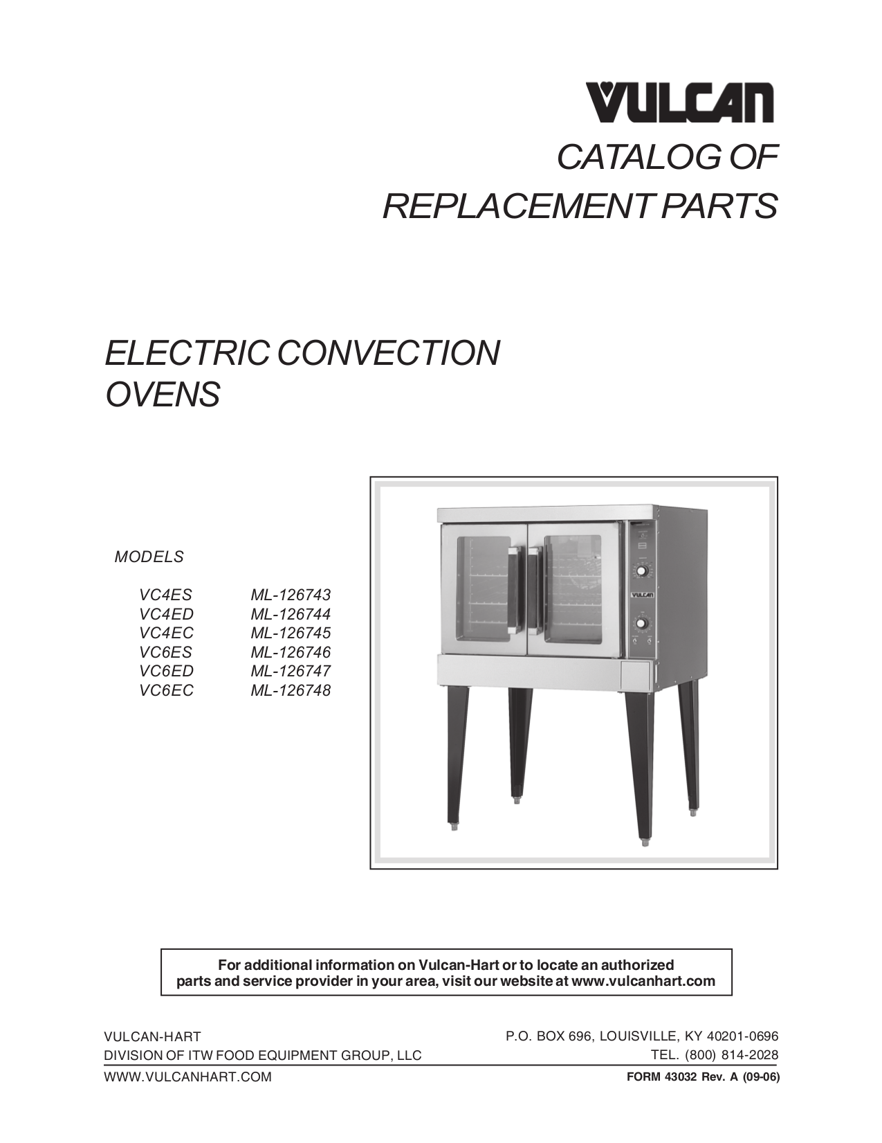 Vulcan Oven VC6ES pdf page preview