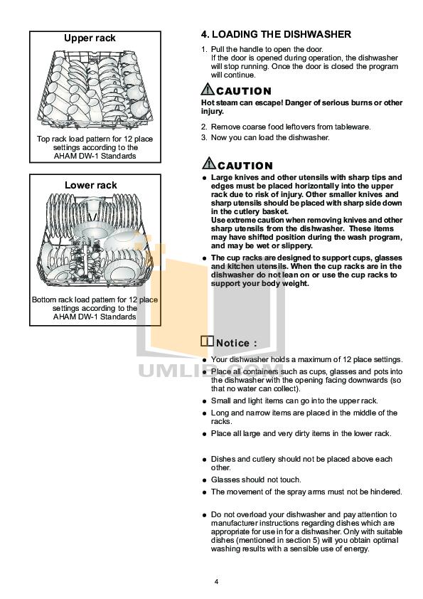 Blomberg Dishwasher DW34110 pdf page preview
