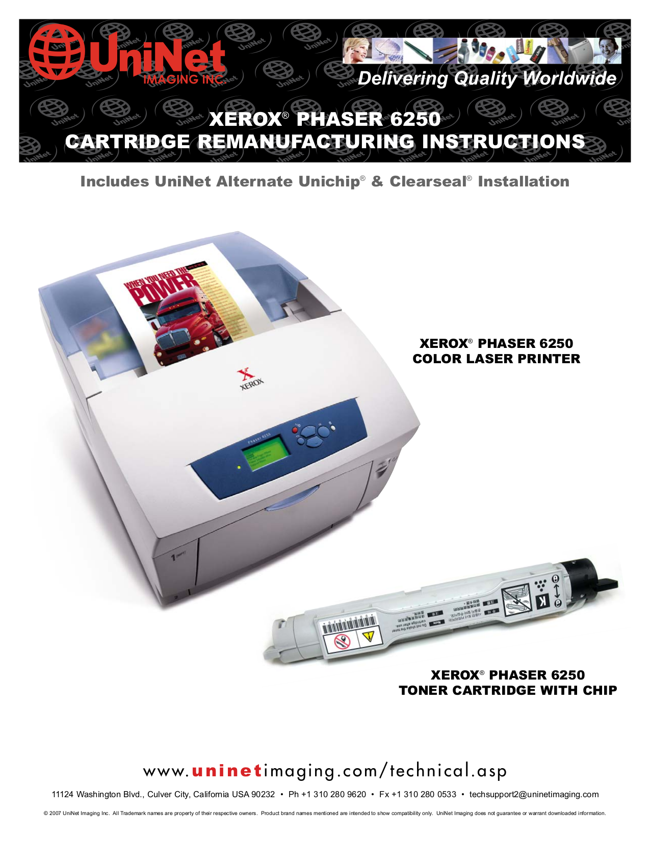 pdf for Xerox Printer Phaser 6250 manual