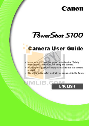 pdf for Canon Digital Camera Powershot S200 manual
