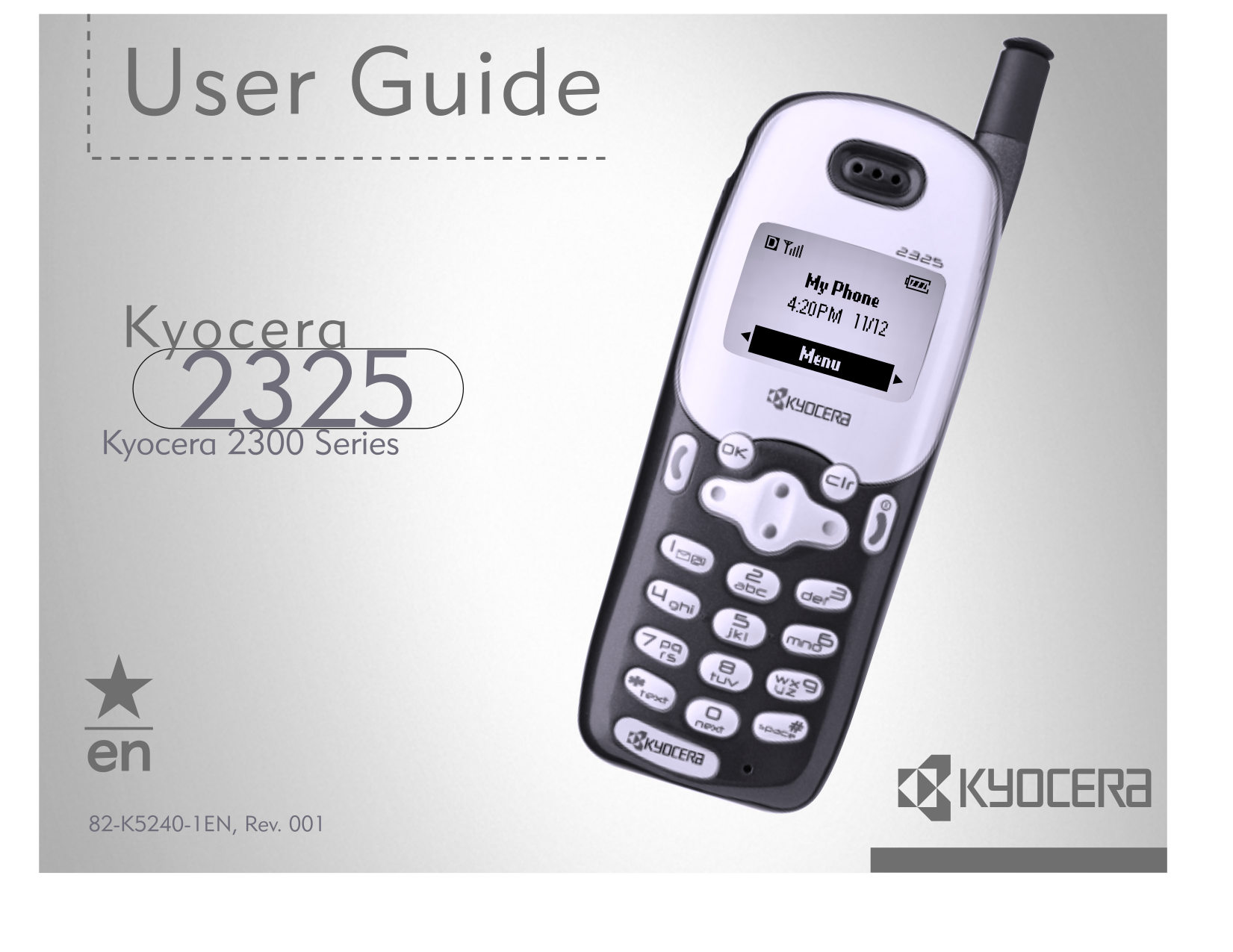 pdf for Kyocera Cell Phone 2325 manual