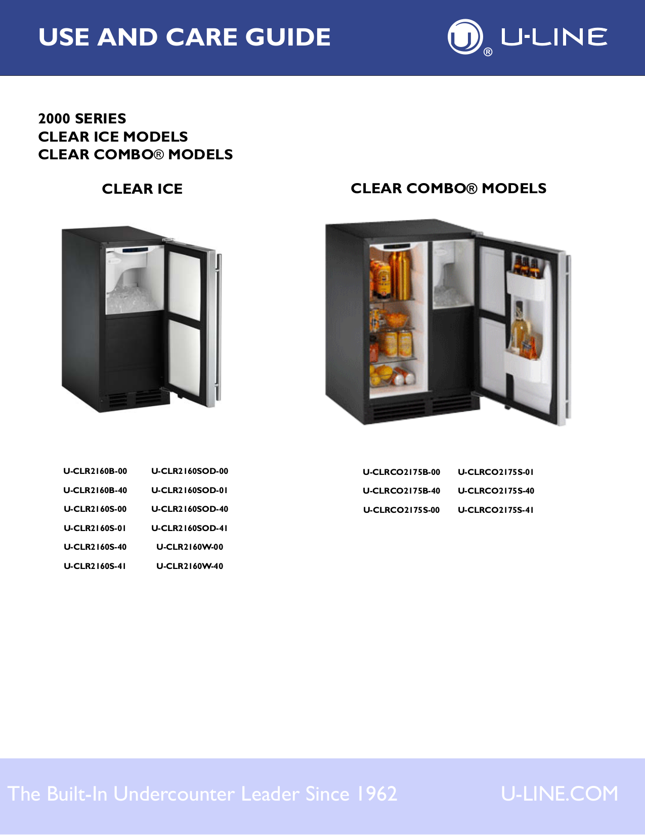 pdf for U-Line Refrigerator Echelon CO2175FS00 manual