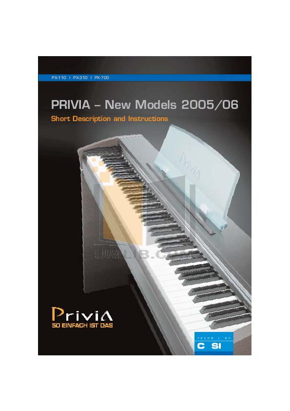 download free pdf for casio px 310 music keyboard manual rh umlib com Casio Privia PX- 350 Casio Privia PX- 350