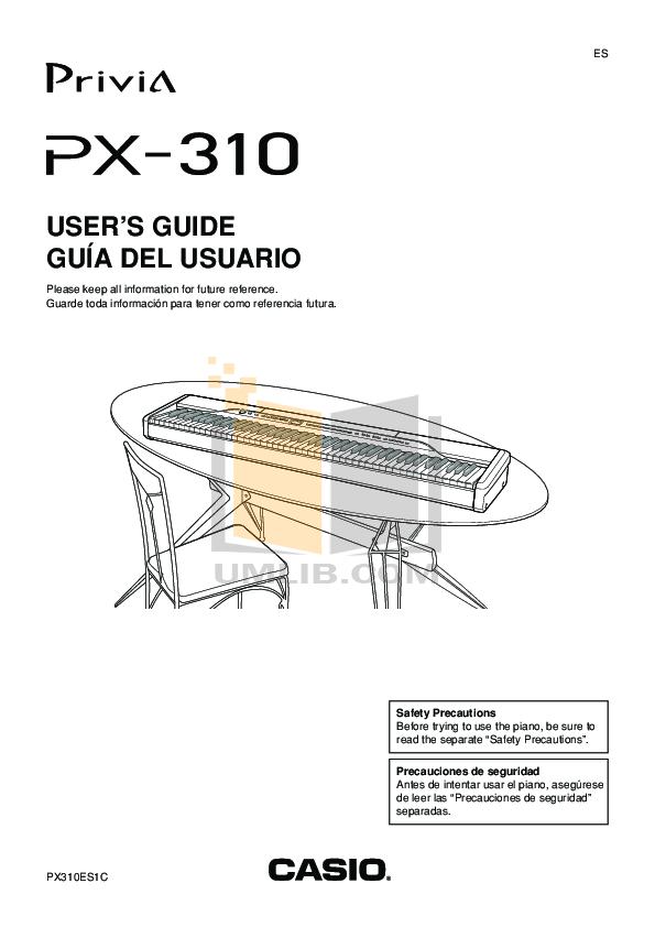 download free pdf for casio px 310 music keyboard manual rh umlib com Casio Privia PX- 130 Casio Privia Px 110