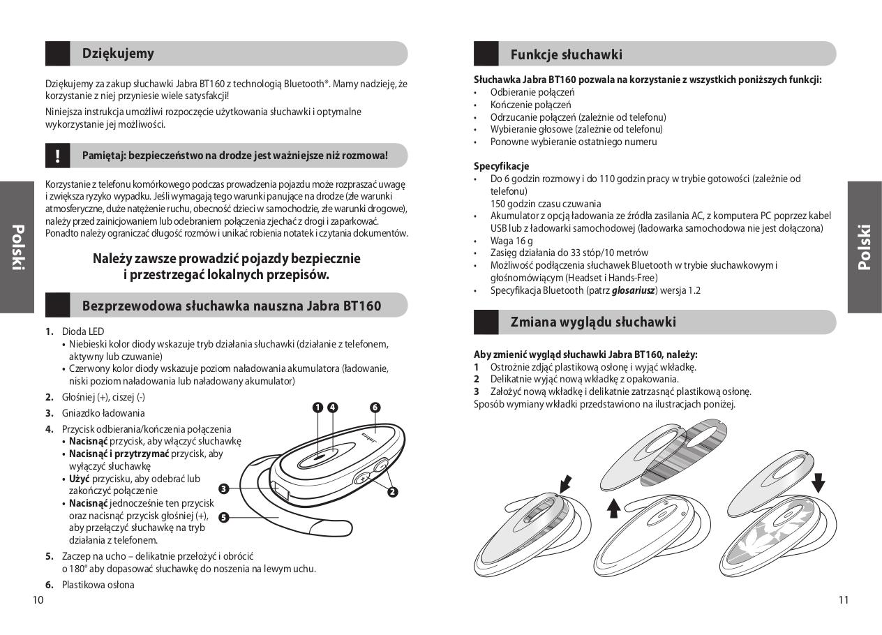 pdf manual for jabra headset bt160 rh umlib com Jabra HFS001 User Manual Jabra Cruiser Manual