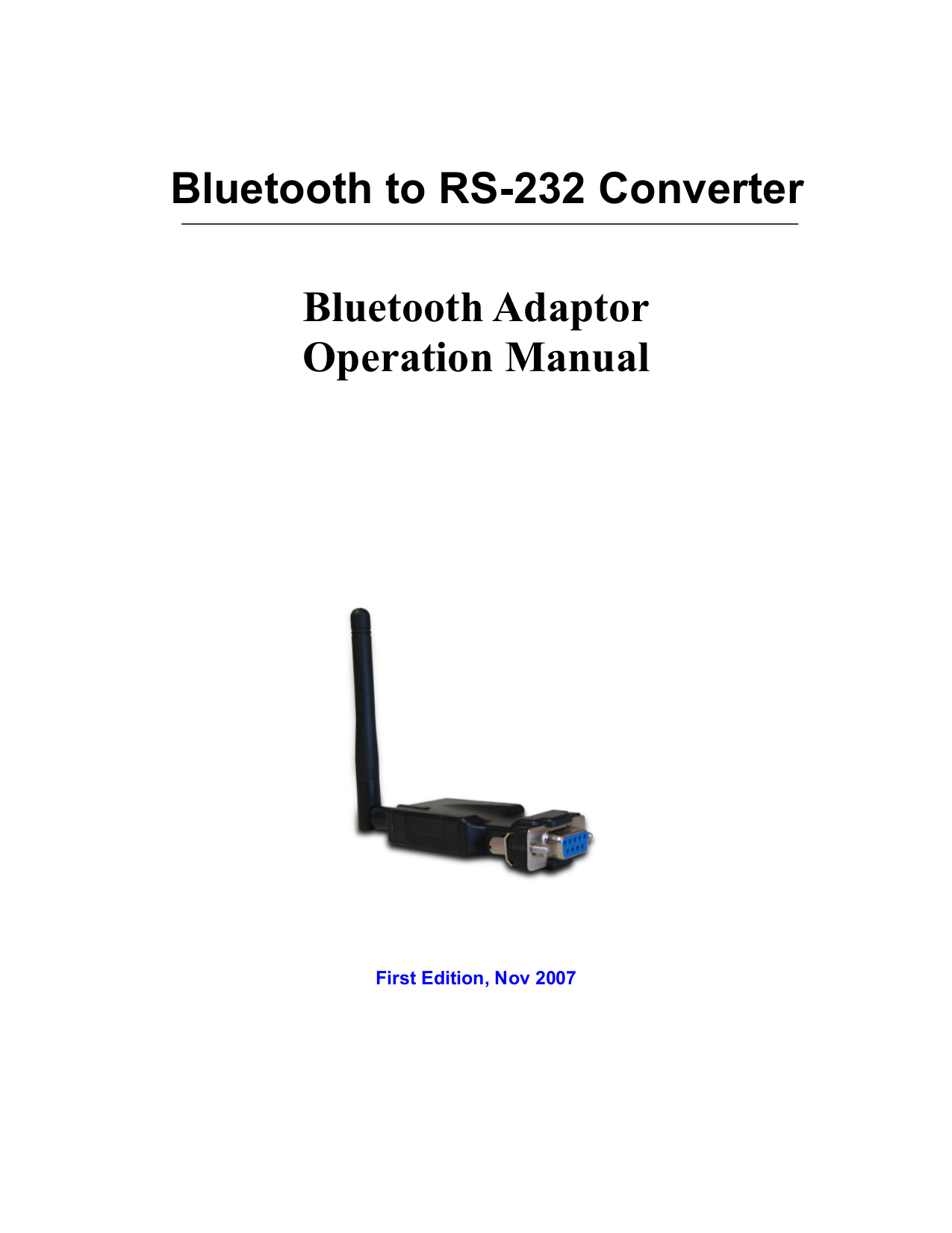 pdf for Quatech Other SS-BLT-100 Adapters manual