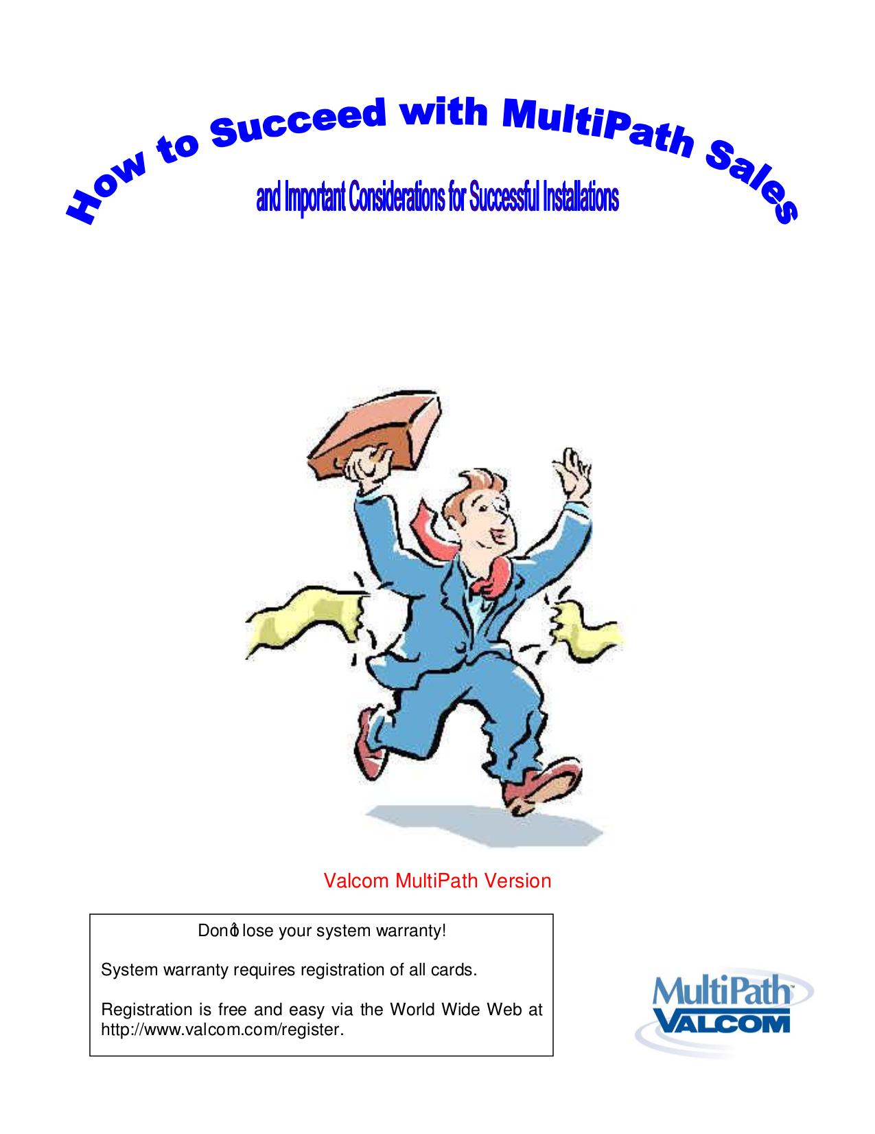 pdf for Valcom Switch V2991 manual