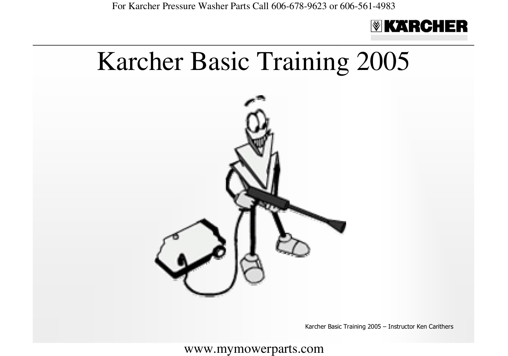 pdf for Karcher Other HD 3500 DH Pressure Washers manual