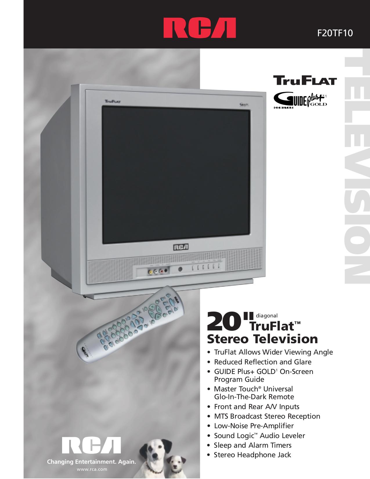 download free pdf for rca f20tf10 tv manual rh umlib com rca television manuals free downloads RCA Flat Screen TV Manual