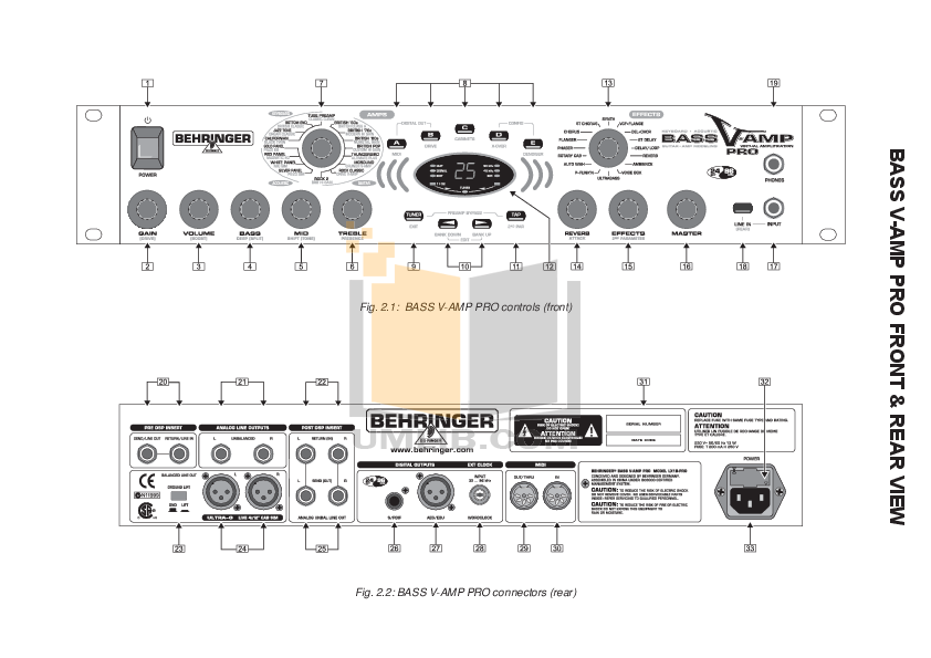 pdf manual for behringer amp v