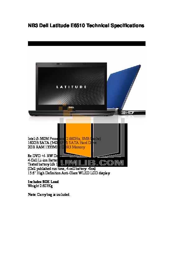 download free pdf for dell latitude e6510 laptop manual rh umlib com dell latitude e6510 manual pdf dell latitude e6510 manual download