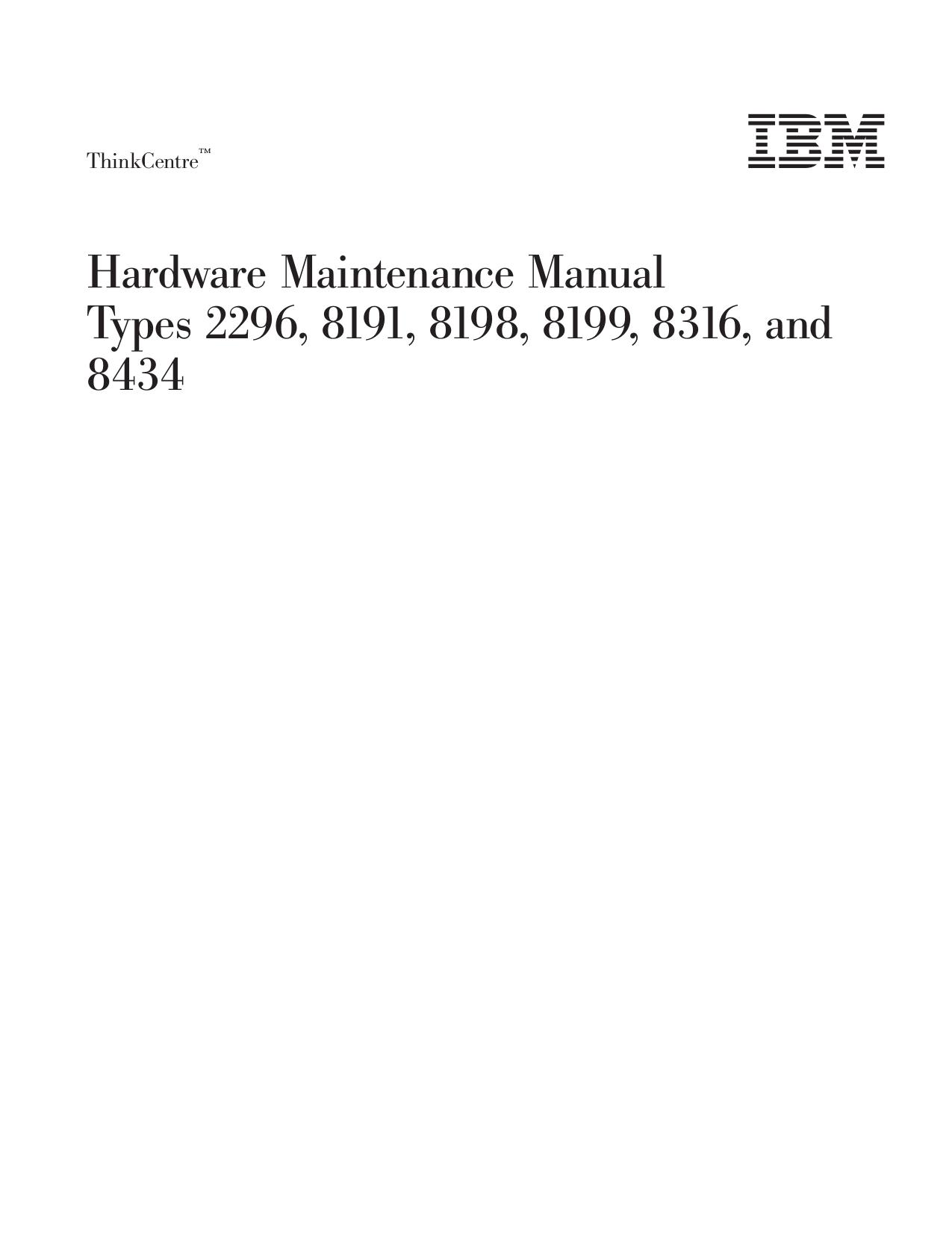 pdf for Lenovo Desktop ThinkCentre A30 8191 manual