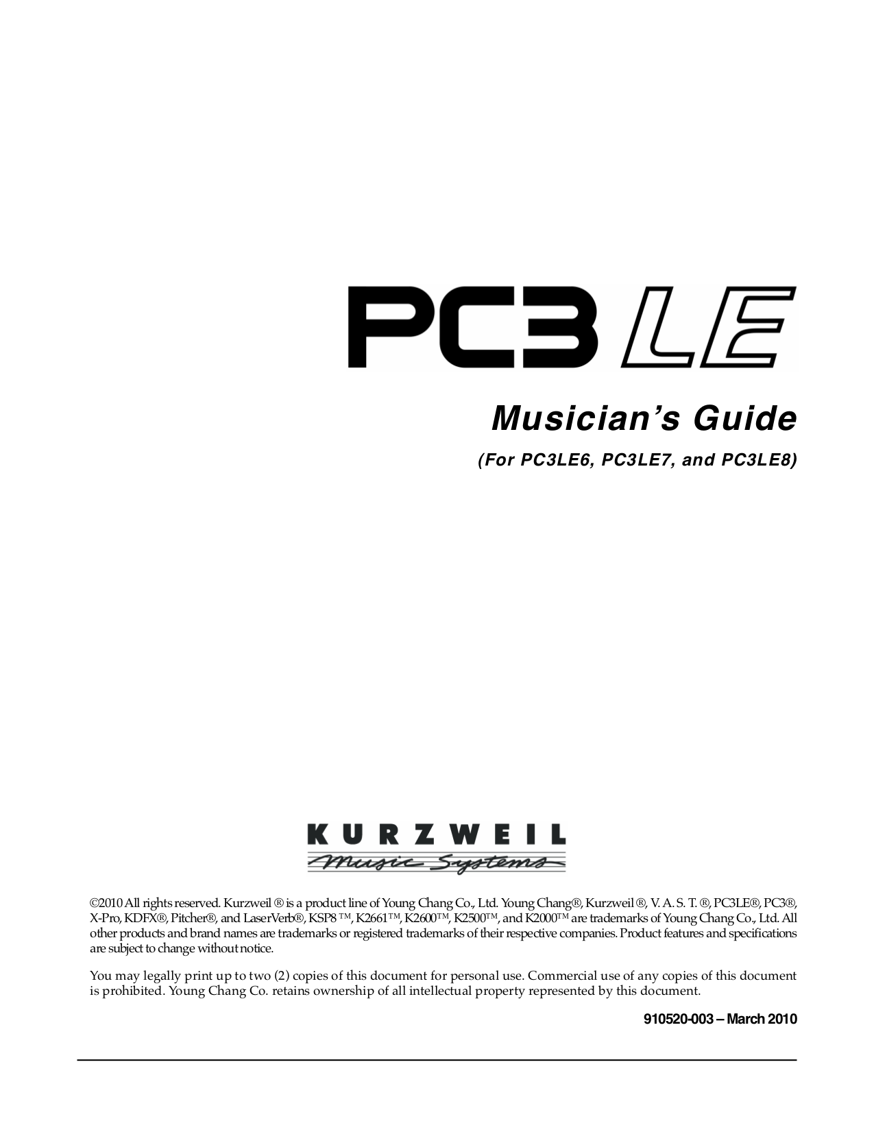 pdf for Kurzweil Music Keyboard EP Series EP-500 manual
