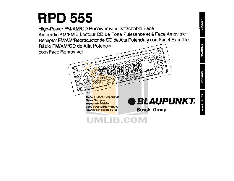 pdf for Blaupunkt Other RPD555 Car-audio manual