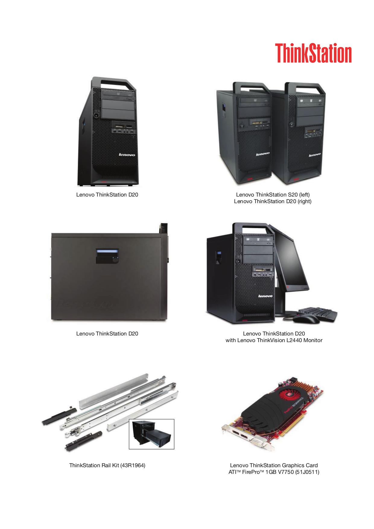 Lenovo Desktop ThinkStation D20 4155 pdf page preview