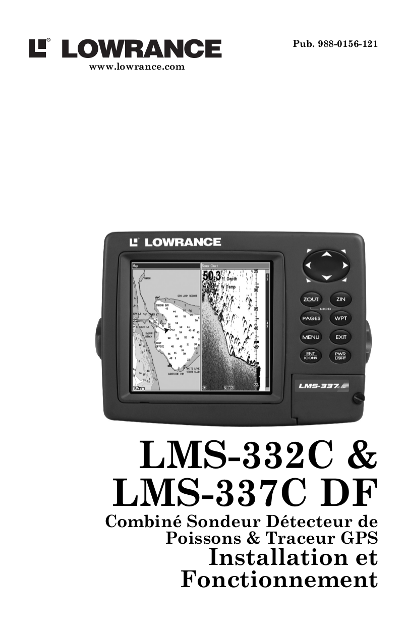 pdf for Lowrance GPS LMS-337CDF manual