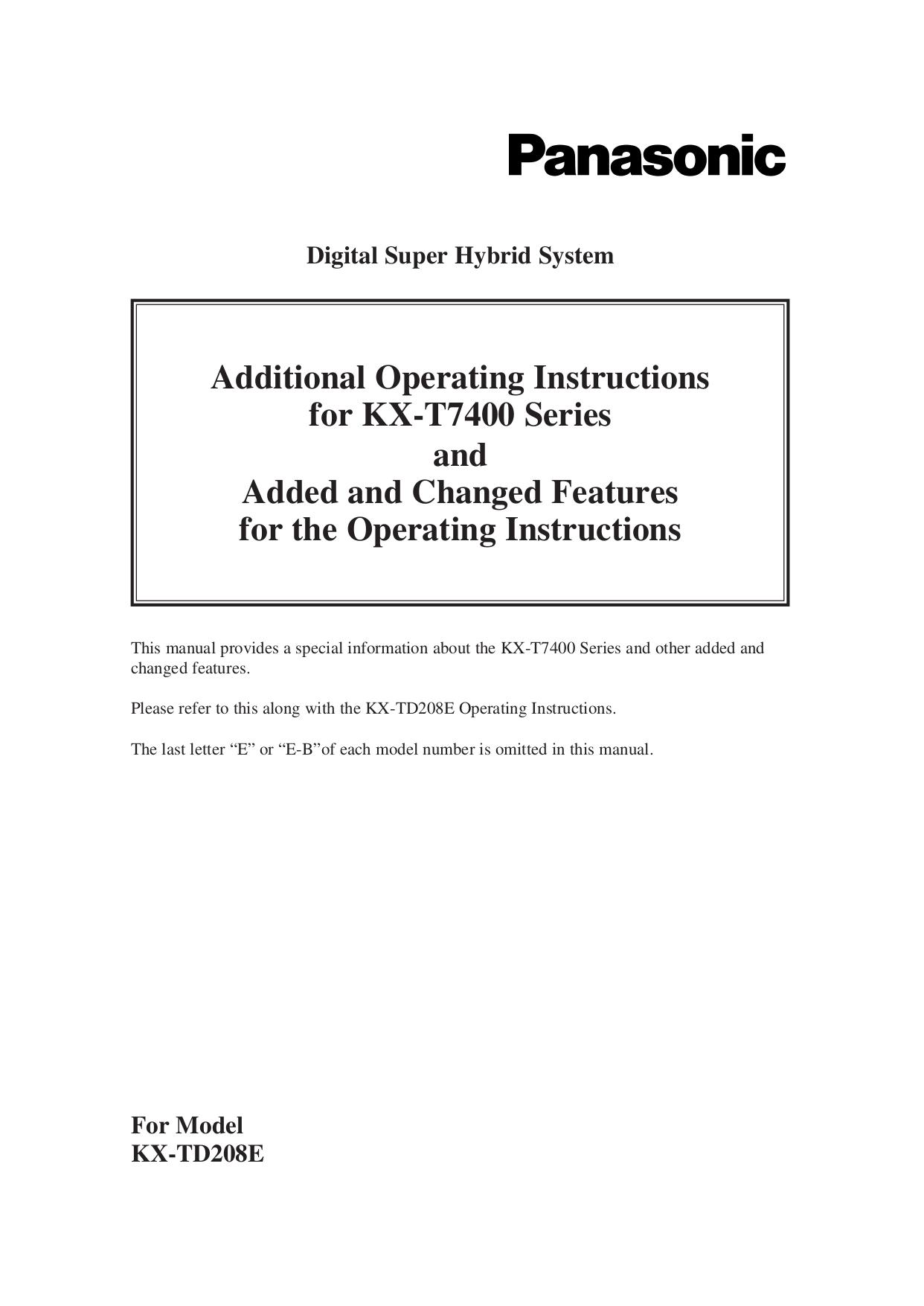 download free pdf for panasonic kx t7667 telephone manual rh umlib com Panasonic Kx Instruction Manual 4021 Panasonic Kx E4000 Manual