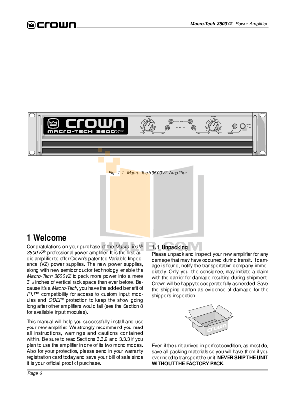 Crown Other PIP-ATNB Input Processors pdf page preview