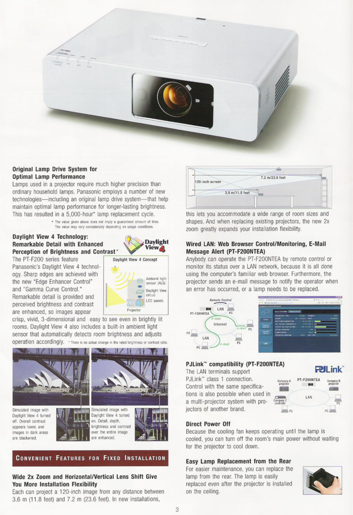 Panasonic Projector PT-F200NTEA pdf page preview