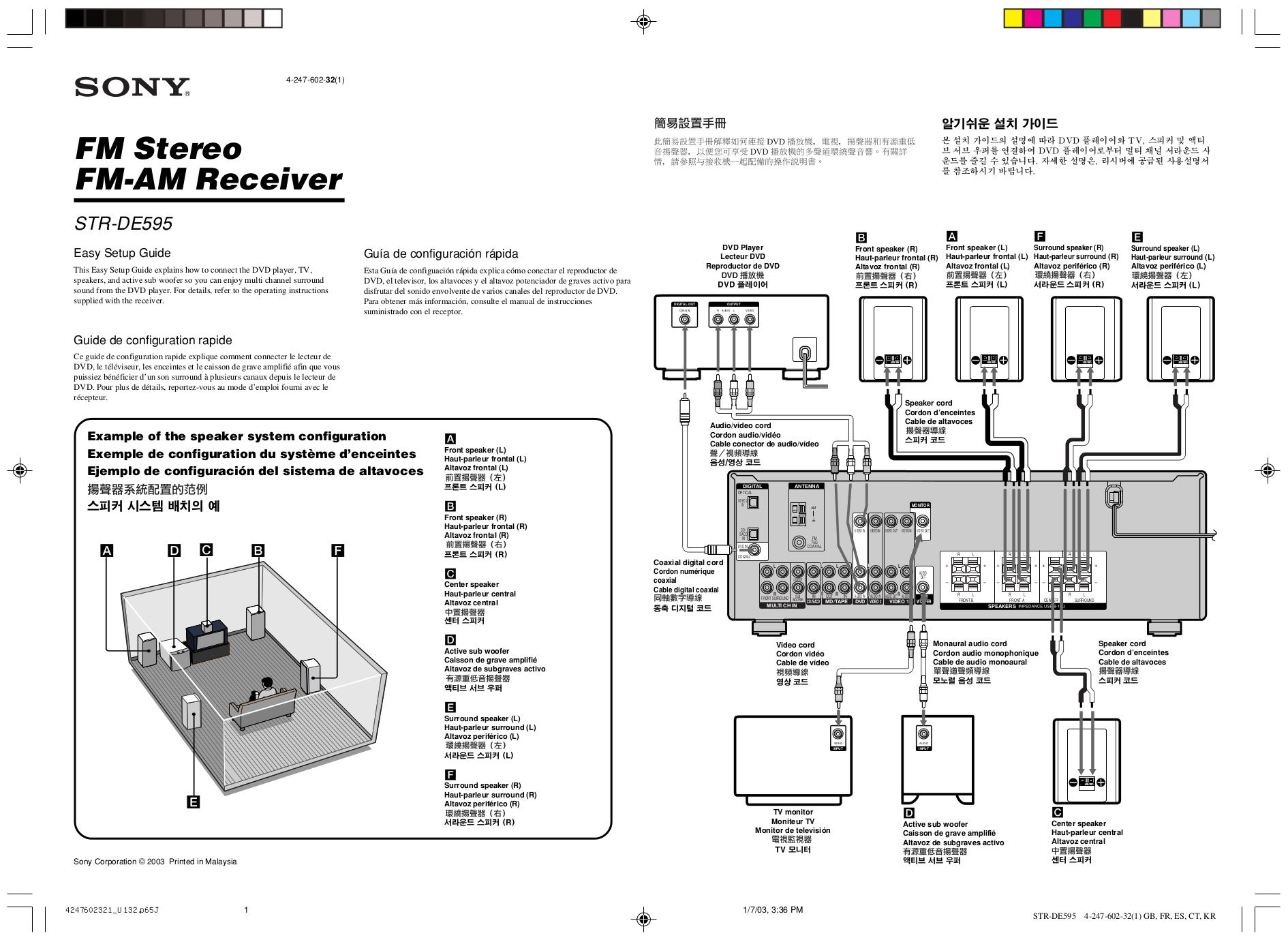 download free pdf for sony str de595 receiver manual rh umlib com Sony STR De345 Specs Sony STR De595 Manual