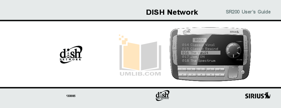 pdf for Dish Satellite Radio SR200 manual