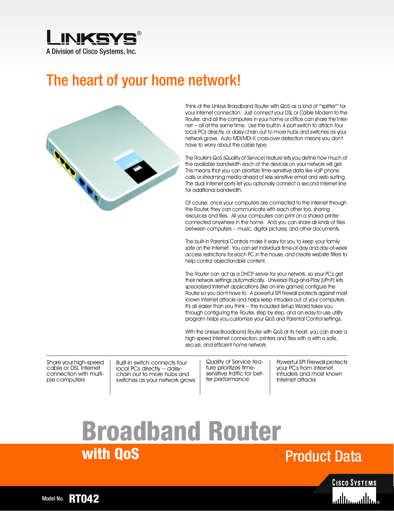 pdf for Linksys Router RT042 manual
