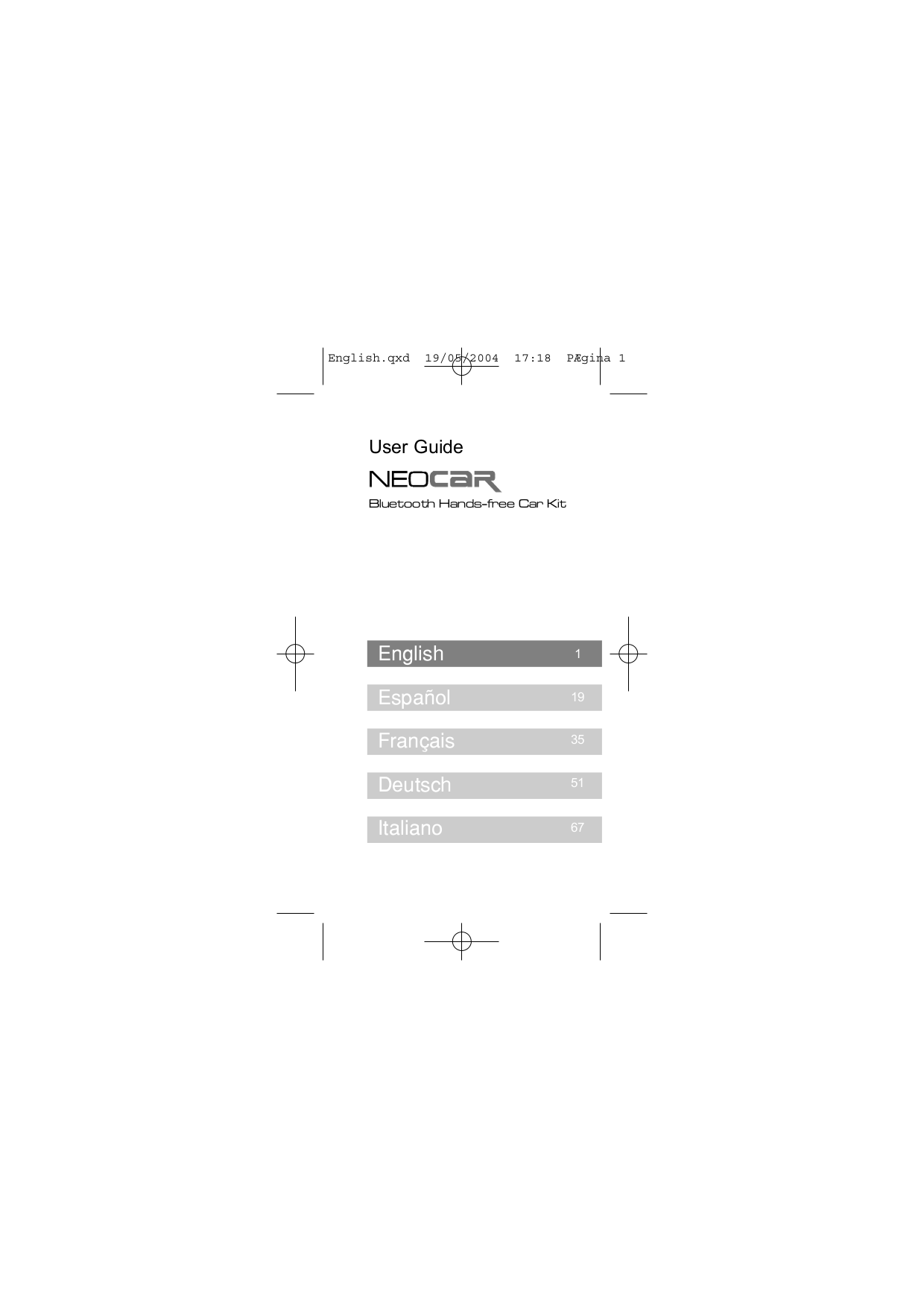 pdf for SouthWing Headset NeoCar manual