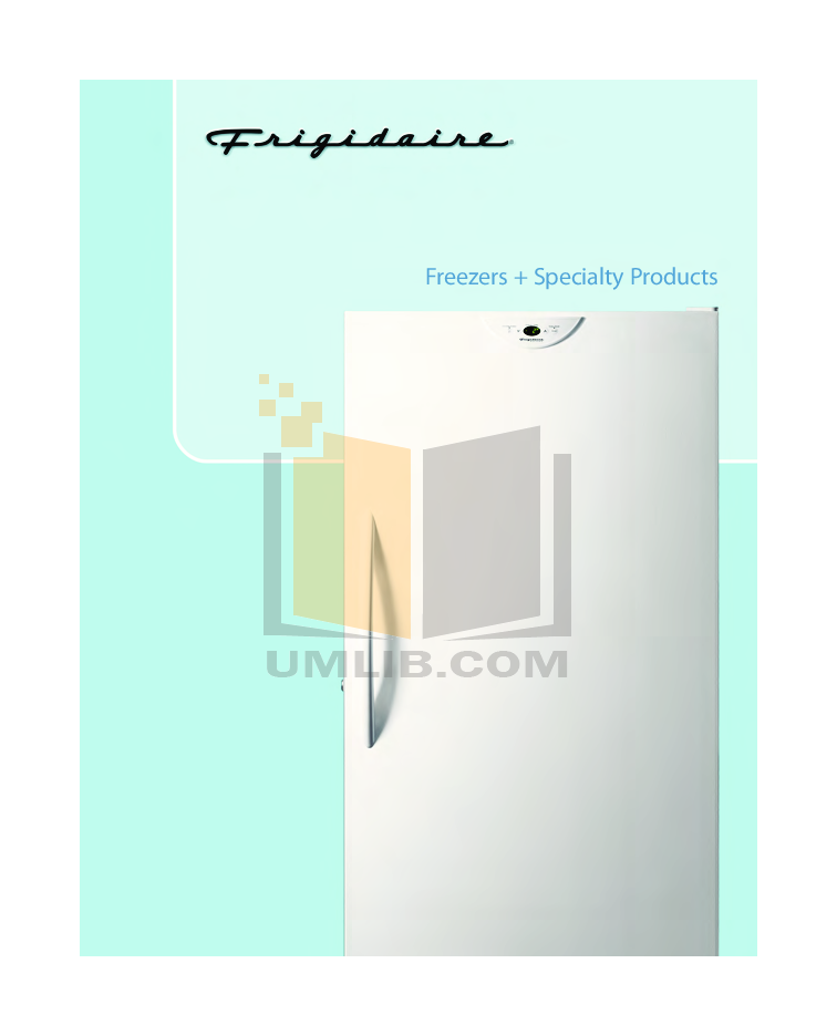pdf for Frigidaire Refrigerator PLRU1778E manual