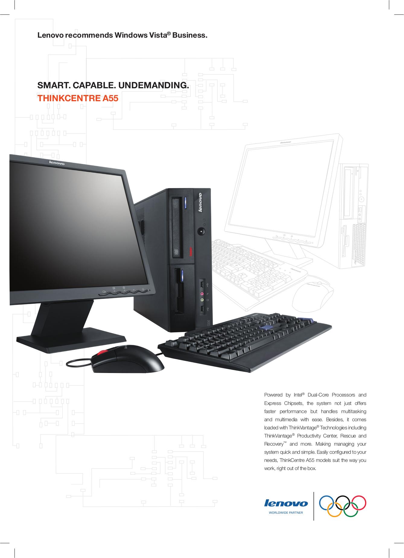 pdf for Lenovo Desktop ThinkCentre A55 8705 manual