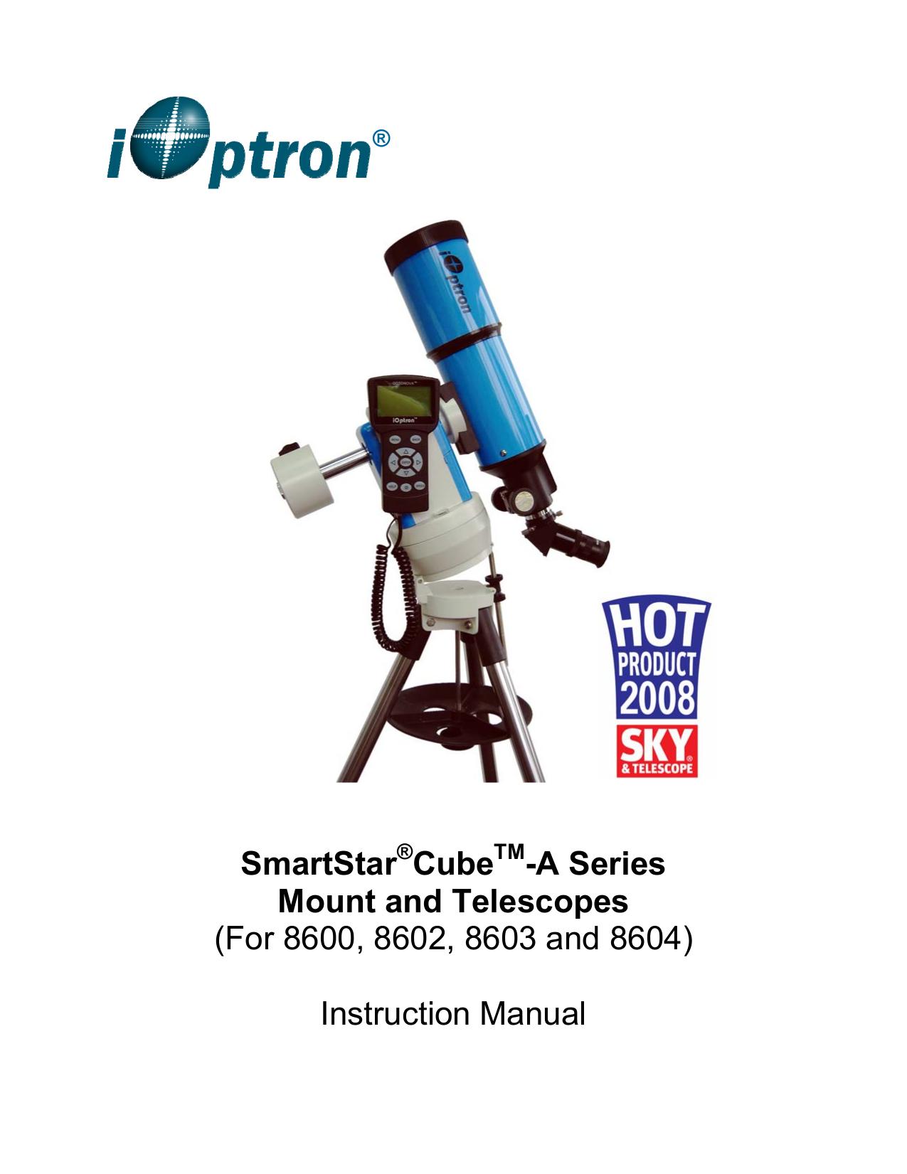 pdf for Ioptron Telescope SmartStar A-R80 manual