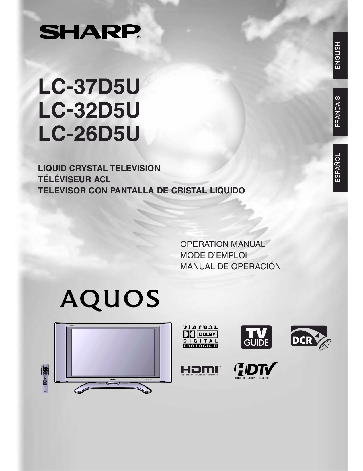 "aquos sharp tv manual rh aquos sharp tv manual mollysmenu us sharp aquos 32-inch lc-32d59u lcd tv manual Sharp AQUOS 32"" TV"
