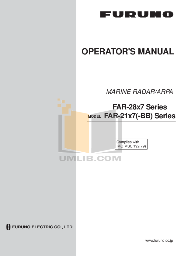 pdf for Furuno Other FAX-207 Fax Receiver manual
