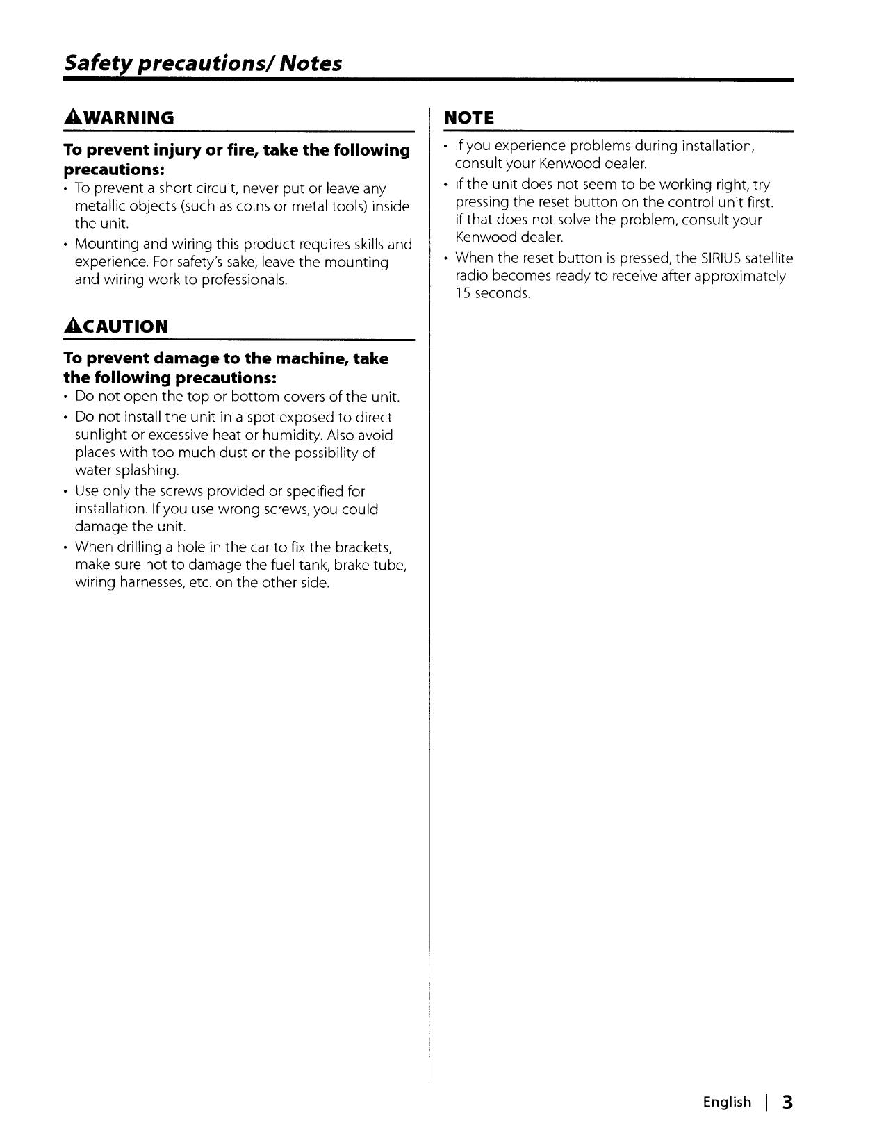 PDF manual for Kenwood Car Receiver KDC-3028