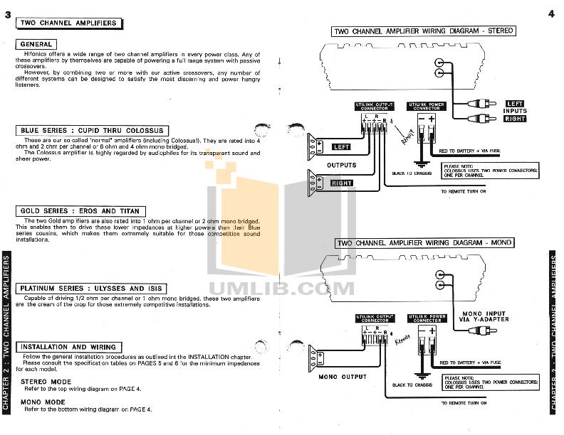PDF manual for Hifonics Amp Series VII Vulcan on capacitor hook up diagram, car sound system diagram, car audio diagram, car stereo diagram, car amplifier diagram,