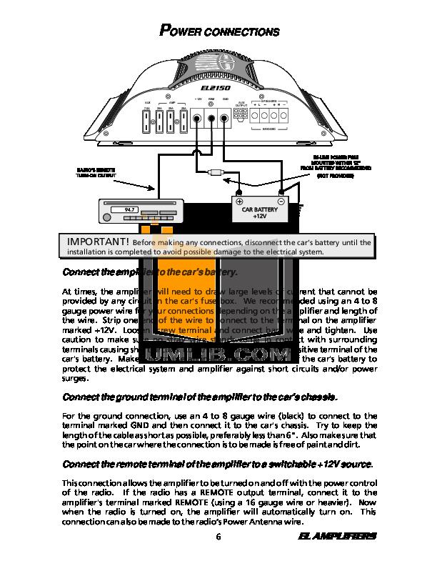 pdf manual for bazooka car amplifier el260 rh umlib com 600W Bazooka Amplifiers Bazooka Amplified Subwoofer