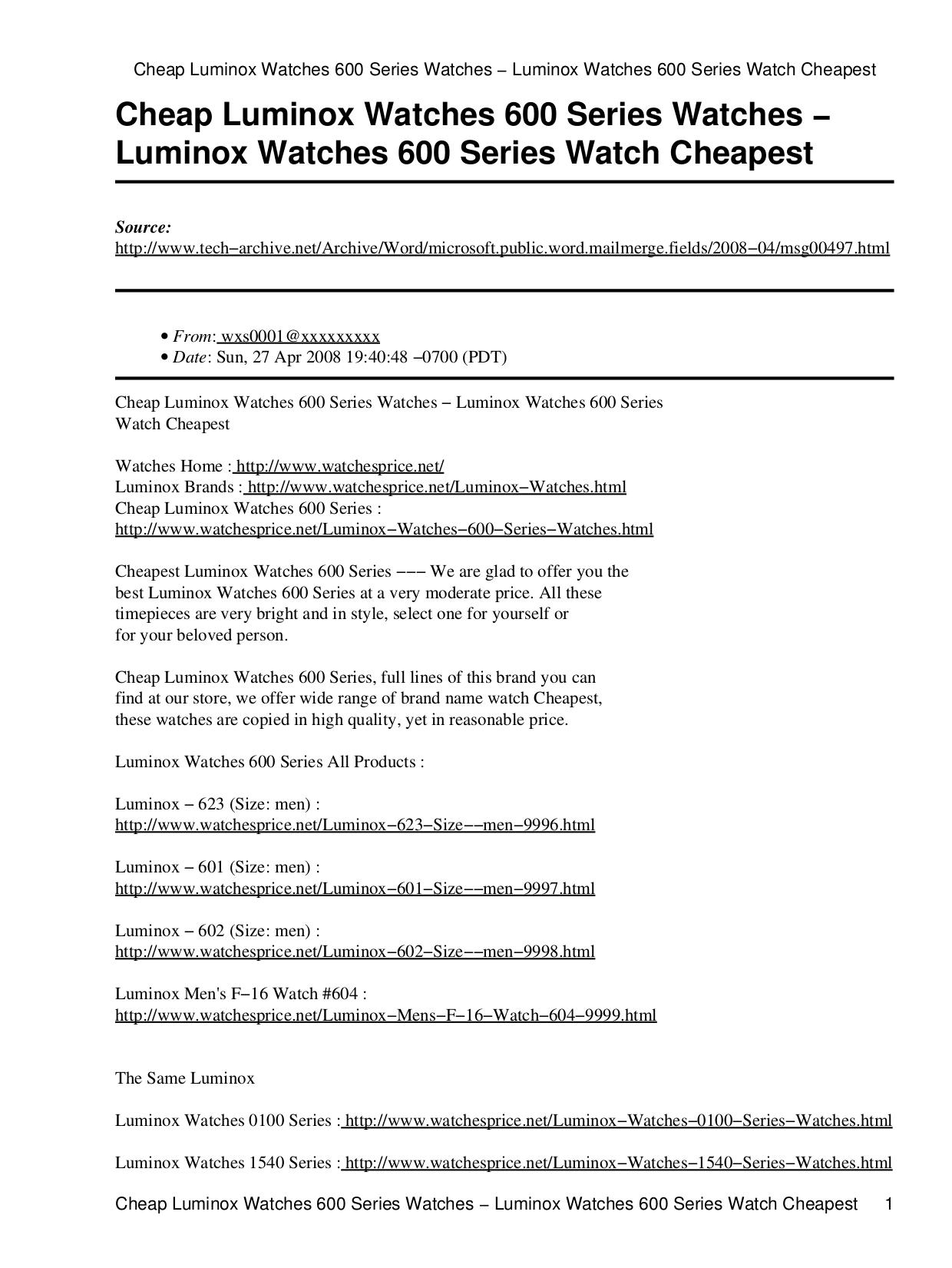 pdf for Luminox Watch F-16 623 manual