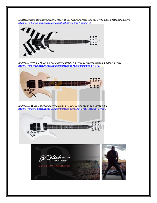 BCRich Guitar MBSTTSB pdf page preview