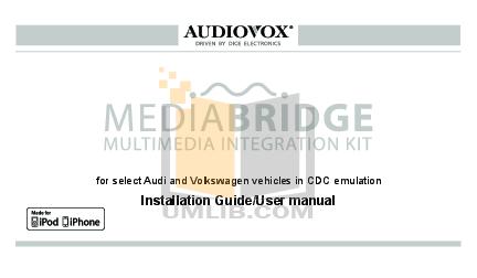 pdf for Audiovox Car Receiver ACC-52 manual