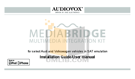 pdf for Audiovox Car Receiver ACC-52 manual
