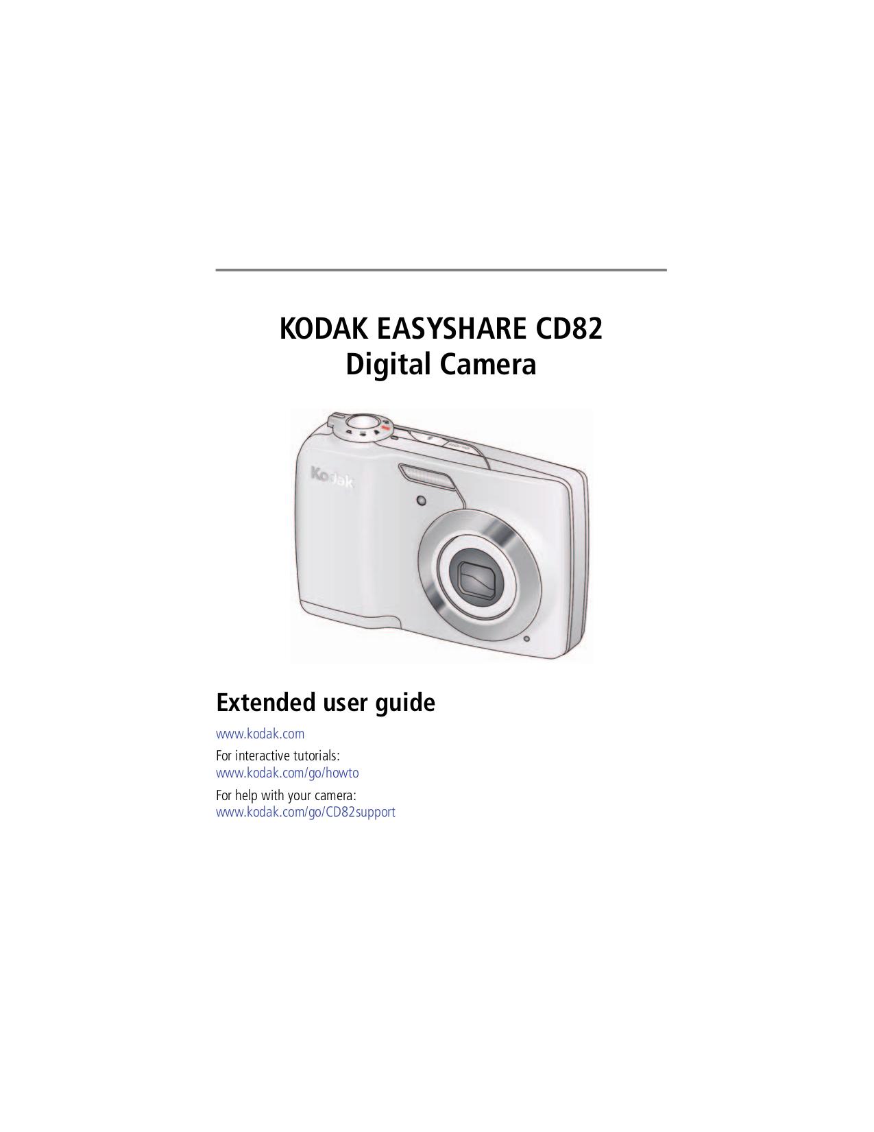 pdf for Kodak Digital Camera EasyShare CD82 manual