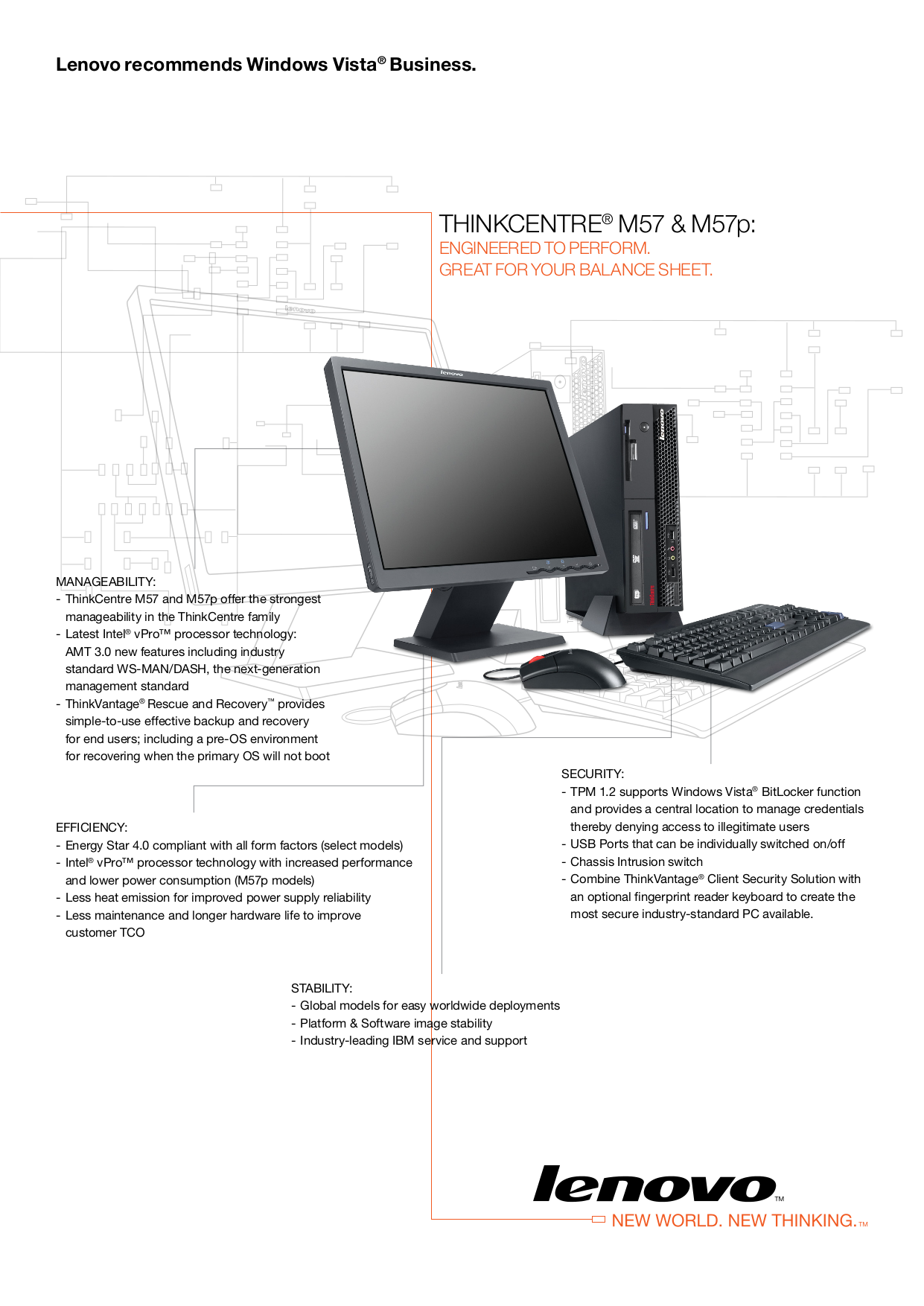 pdf for Lenovo Desktop ThinkCentre M57p 6088 manual