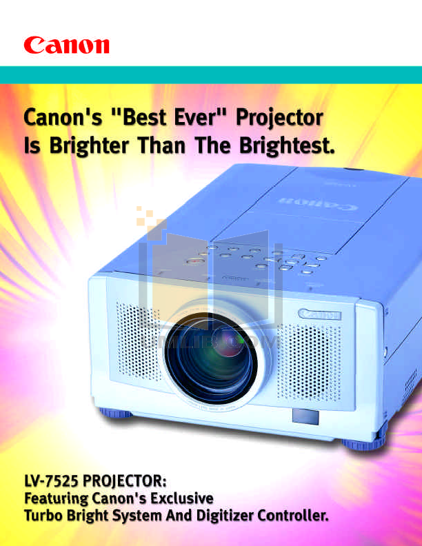 pdf for Canon Projector LV-7525 manual