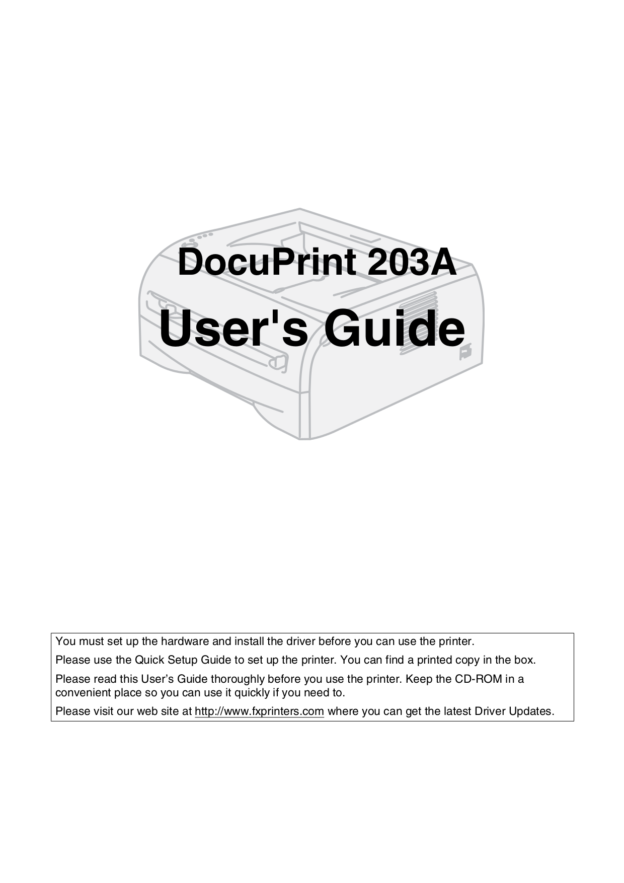 pdf for Xerox Printer DocuPrint C11 manual