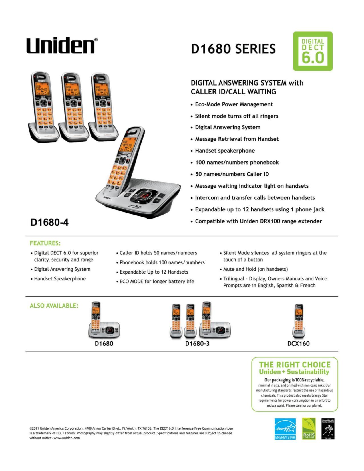... Array - download free pdf for uniden d1680 4 telephone manual rh umlib  com